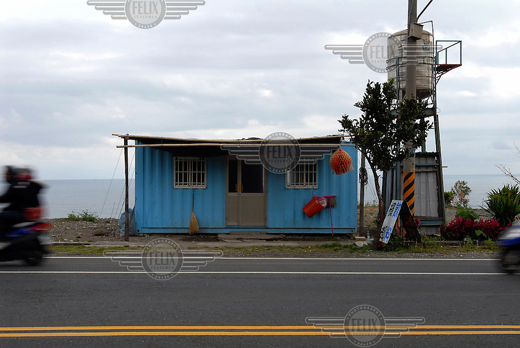 House made from a shipping container just north of Taitung City.