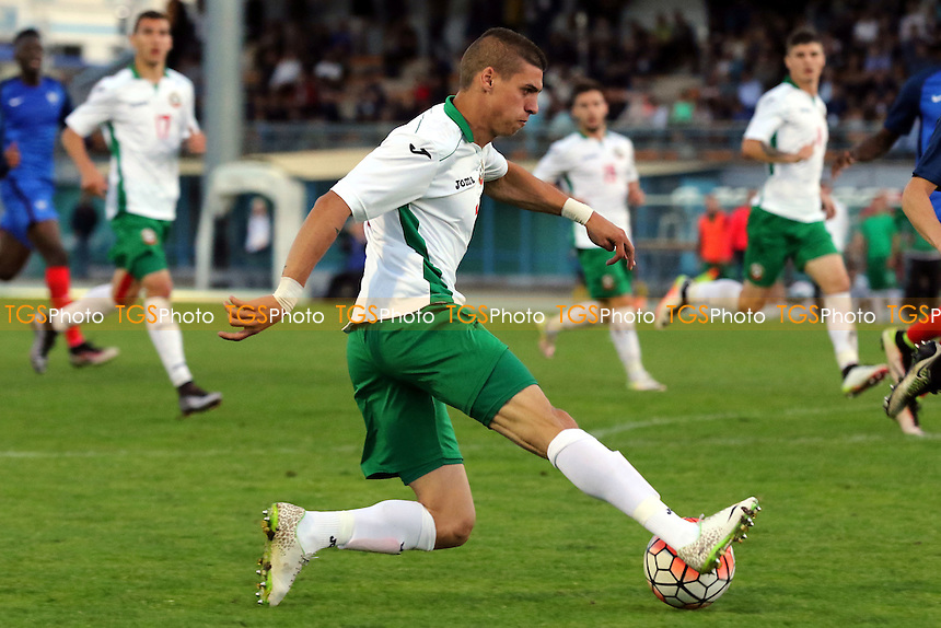 Kiril Despodov of Bulgaria in action during Bulgaria Under-20 vs France Under-20, 2016 Toulon Tournament Football at Stade de Lattre on 20th May 2016