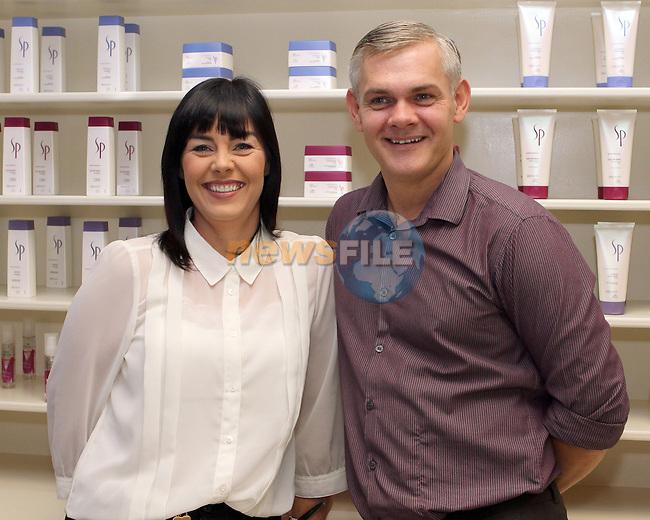 Sharon Kiernan and David Kirwan of Indigo Hair Salon, West Street, Drogheda..Photo NEWSFILE/Jenny Matthews.