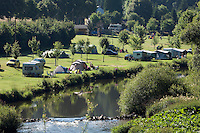 Grand Duchy of Luxembourg, Riverside campsite along the Our Valley near Vianden