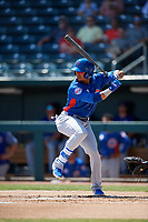 Tennessee Smokies Robel Garcia (4) at bat during a Southern League game against the Jacksonville Jumbo Shrimp on April 29, 2019 at Baseball Grounds of Jacksonville in Jacksonville, Florida.  Tennessee defeated Jacksonville 4-1.  (Mike Janes/Four Seam Images)