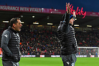 Wigan Athletic Manager Paul Cook right and Assistant Leam Richardson appeal for a penalty late in the game during AFC Bournemouth vs Wigan Athletic, Emirates FA Cup Football at the Vitality Stadium on 6th January 2018