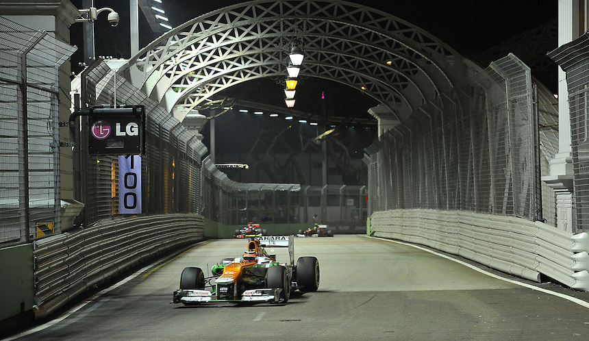.Nico Huelkenberg (GER), Force India Formula One Team ..2012 FIA Formula One World Championship - Singtel Formula One Grand Prix, Marina Bay Street Circuit, Singapore, Singapore, Friday 21st September 2012...