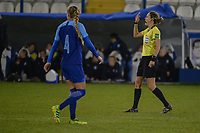 20190304 - LARNACA , CYPRUS : Croatian referee Ivana Martincic pictured during a women's soccer game between Finland and Korea DPR , on Monday 4 March 2019 at the Antonis Papadopoulos Stadium in Larnaca , Cyprus . This is the third game in group A for Both teams during the Cyprus Womens Cup 2019 , a prestigious women soccer tournament as a preparation on the Uefa Women's Euro 2021 qualification duels. PHOTO SPORTPIX.BE | STIJN AUDOOREN