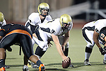 Beverly Hills, CA 09/23/11 - Matt Imwalle (Peninsula #17) and Arthur Fischer (Peninsula #67) in action during the Peninsula-Beverly Hills Varsity football game.