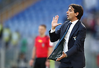 Football, Serie A: S.S. Lazio - Udinese Olympic stadium, Rome, December 1, 2019. <br /> Lazio's coach Simone Inzaghi speaks to his players during the Italian Serie A football match between S.S. Lazio and Udinese at Rome's Olympic stadium, Rome on December 1, 2019.<br /> UPDATE IMAGES PRESS/Isabella Bonotto