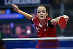 Glasgow 2014 Commonwealth Games<br /> Megan Phillips (wales) in action against Roanna Abel (Vanuatu).<br /> Scotstoun Table Tennis<br /> <br /> 25.07.14<br /> ©Steve Pope-SPORTINGWALES