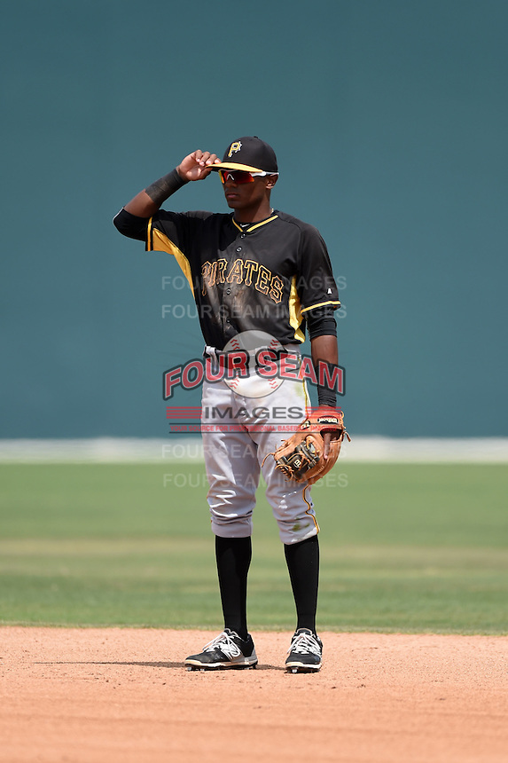 Pittsburgh Pirates Nelson Jorge (72) during a minor league spring training game against the Toronto Blue Jays on March 26, 2015 at Pirate City in Bradenton, Florida.  (Mike Janes/Four Seam Images)