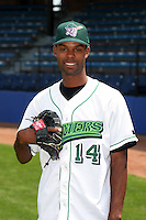 Jamestown Jammers Alexis Sosa poses for a photo before a NY-Penn League game at Russell Diethrick Park on July 1, 2006 in Jamestown, New York.  (Mike Janes/Four Seam Images)
