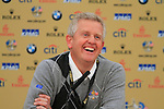 European Team Captain, Colin Montgomerie, in the interview room at the 2010 Ryder Cup at the Celtic Manor Twenty Ten Course, Newport, Wales, 28th September 2010..(Picture Eoin Clarke/www.golffile.ie)