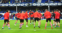 Lincoln City's lead sports scientist Luke Jelly leads the pre-match warm-up<br /> <br /> Photographer Andrew Vaughan/CameraSport<br /> <br /> Emirates FA Cup Third Round - Everton v Lincoln City - Saturday 5th January 2019 - Goodison Park - Liverpool<br />  <br /> World Copyright &copy; 2019 CameraSport. All rights reserved. 43 Linden Ave. Countesthorpe. Leicester. England. LE8 5PG - Tel: +44 (0) 116 277 4147 - admin@camerasport.com - www.camerasport.com