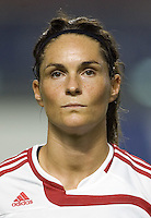 Denmark defender (3) Katrine Pedersen. The Peoples Republic of China (CHN) defeated Denmark (DEN) 3-2 during their FIFA Women's World Cup China 2007 opening round Group D match at Wuhan Sports Center Stadium in Wuhan, China on September 12, 2007.