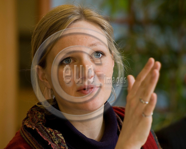 Brussels-Belgium - March 23, 2010 -- MEP Franziska Katharina BRANTNER (Greens/EFA/DE, Buendnis 90/DieGruenen) from Germany, member of the Group of the Greens / European Free Alliance in the European Parliament and i.a. of the Committee on Foreign Affairs, during a press briefing -- Photo: Horst Wagner / eup-images