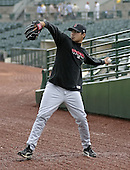 May 14, 2004:  Pitcher Jorge De La Rosa of the Indianapolis Indians, Triple-A International League affiliate of the Milwaukee Brewers, during a game at Frontier Field in Rochester, NY.  Photo by:  Mike Janes/Four Seam Images