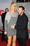 "HOLLYWOOD, CA. - November 09: Jenna Elfman and Bodhi Elfman arrive at the ""Old Dogs"" Premiere at the El Capitan Theatre on November 9, 2009 in Hollywood, California."