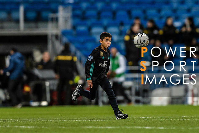 """Cristiano Ronaldo Junior """"Fiote"""" during La Liga 2017-18 match between Real Madrid and Sevilla FC at Santiago Bernabeu Stadium on 09 December 2017 in Madrid, Spain. Photo by Diego Souto / Power Sport Images"""