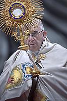 Pope Francis Vespers and Te Deum prayers in Saint Peter's Basilica at the Vatican.December 31, 2017