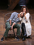 "Nik Walker and Lexi Lawson from the 'Hamilton' cast during the student Q & A before  The Rockefeller Foundation and The Gilder Lehrman Institute of American History sponsored High School student #EduHam matinee performance of ""Hamilton"" at the Richard Rodgers Theatre on 4/26/2017 in New York City."