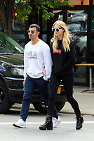 www.acepixs.com<br /> <br /> May 9 2017, New York City<br /> <br /> Singer Joe Jonas and his girlfriend actress Sophie Turner went out for drinks at a cafe in the East Village on May 9 2017 in New York City<br /> <br /> By Line: Zelig Shaul/ACE Pictures<br /> <br /> <br /> ACE Pictures Inc<br /> Tel: 6467670430<br /> Email: info@acepixs.com<br /> www.acepixs.com