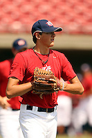 September 15, 2009:  Kevin Gausman, one of many top prospects in action, taking part in the 18U National Team Trials at NC State's Doak Field in Raleigh, NC.  Photo By David Stoner / Four Seam Images