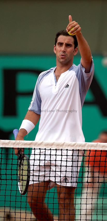 Photo. Jed Wee..French Open Tennis Championships, Roland Garros, Paris, France. 29/05/2003..Albert Costa.