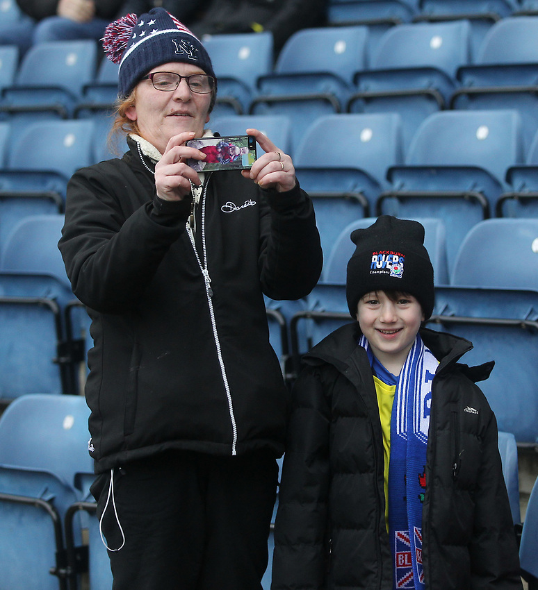 Blackburn Rovers fans await the Kick off<br /> <br /> Photographer Mick Walker/CameraSport<br /> <br /> The EFL Sky Bet Championship - Blackburn Rovers v Ipswich Town - Saturday 19 January 2019 - Ewood Park - Blackburn<br /> <br /> World Copyright © 2019 CameraSport. All rights reserved. 43 Linden Ave. Countesthorpe. Leicester. England. LE8 5PG - Tel: +44 (0) 116 277 4147 - admin@camerasport.com - www.camerasport.com
