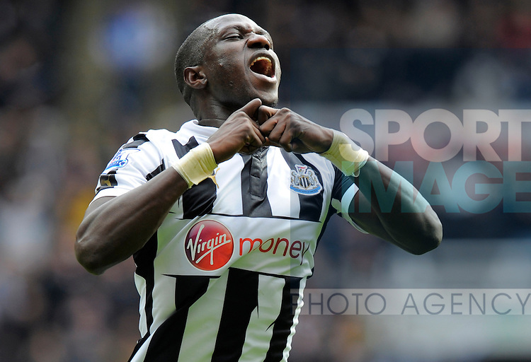 Moussa Sissoko of Newcastle United celebrates scoring their first goal - Barclays Premier League - Newcastle Utd vs Southampton - St. James' Park - Newcastle - 24/02/13 - Picture Richard Lee/Sportimage