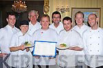 The Chefs who cooked at the Feast of Kerry Seafood in the Muckross Park Hotel, Killarney on Saturday night l-r: Derek Fogarty Muckross Park Hotel, Patricia Teahan Jacks Coastguard Restaurant Cromane, Nick Foley Nicks Restaurant Killorglin, Aidan O'Driscoll Cork, Wayne Seberry Darcy's Restaurant Kenmare, Seamus Macdonald Out of the Blue Restaurant Dingle, Brendan Byrne Muckross Park Hotel and Darren Thlbeaud Oyster Tavern Spa       Copyright Kerry's Eye 2008