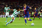 UEFA Champions League 2017/2018 - Matchday 6.<br /> FC Barcelona vs Sporting Clube de Portugal: 2-0.<br /> Gelson Martins vs Lucas Digne.