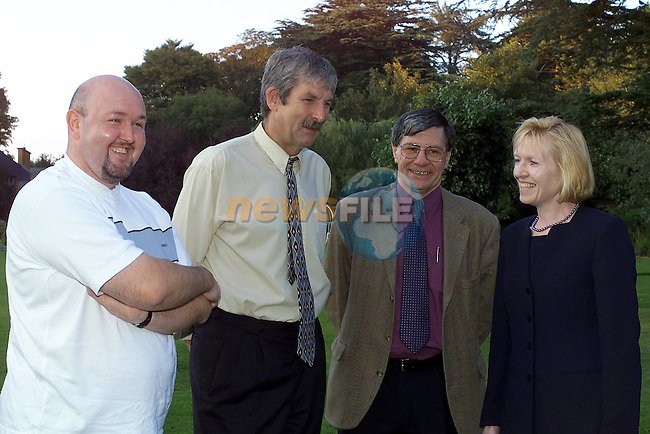 at the Meath Peace Group Meeting in the Boyne Valley Hotel Left to Right Andrew kernaghan Newry, Tony Morrison Dublin, John Clancy Parsonstown and Lady Sylvia Hermon M.P...Picture Fran Caffrey Newsfile.
