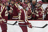 Bill Arnold (BC - 24), Austin Cangelosi (BC - 26) - The visiting Boston College Eagles defeated the Harvard University Crimson 5-1 on Wednesday, November 20, 2013, at Bright-Landry Hockey Center in Cambridge, Massachusetts.