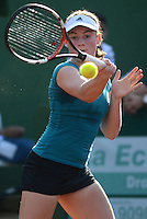 BARRANQUILLA-COLOMBIA- 25-01-2015. La eslovena Tamara Zidansek durante su participación en el Mundial Juvenil de Tenis Barranquilla 2015 el cual ganó Maria Fernanda Herazo en tres sets 6-2 3-6 7-6(6)./ Slovenia Tamara Zidanšek during her participation in World Youth Tennis Barranquilla 2015 which won Maria Fernanda Herazo  in three sets 6-2 3-6 7-6 (6).  Photo: VizzorImage/Alfonso Cervantes/STR