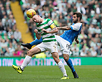 Celtic v St Johnstone &hellip;26.08.17&hellip; Celtic Park&hellip; SPFL<br />Scott Brown nips the ball off Richie Foster<br />Picture by Graeme Hart.<br />Copyright Perthshire Picture Agency<br />Tel: 01738 623350  Mobile: 07990 594431