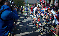 Bauke Mollema (NLD/Trek Factory Racing) up the infamous Mur de Huy (1300m/9.8%)<br /> <br /> 79th Fl&egrave;che Wallonne 2015