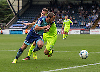 Michael Harriman of Wycombe Wanderers during the Sky Bet League 2 match between Wycombe Wanderers and Colchester United at Adams Park, High Wycombe, England on 27 August 2016. Photo by Liam McAvoy.