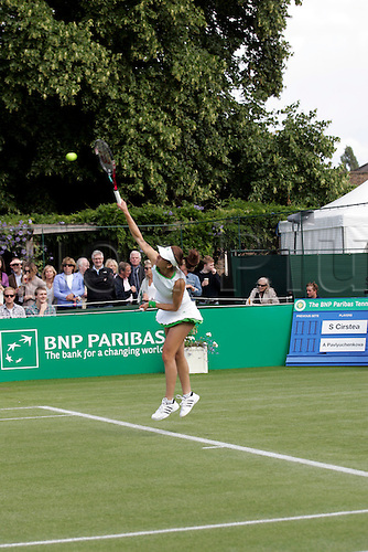 18.06.2011 The BNP Paribas Tennis Classic from the Hurlingham Club in London. Sorana Cirstea playing Russian Anastasia Pavlyuchenkova.