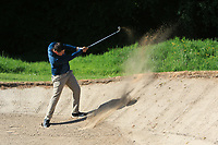Colm Campbell Jnr (Warrenpoint) in a bunker on the 15th during Round 4 of the Ulster Stroke Play Championship at Galgorm Castle Golf Club, Ballymena, Northern Ireland. 28/05/19<br /> <br /> Picture: Thos Caffrey / Golffile<br /> <br /> All photos usage must carry mandatory copyright credit (© Golffile | Thos Caffrey)