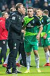 10.02.2019, Weser Stadion, Bremen, GER, 1.FBL, Werder Bremen vs FC Augsburg, <br /> <br /> DFL REGULATIONS PROHIBIT ANY USE OF PHOTOGRAPHS AS IMAGE SEQUENCES AND/OR QUASI-VIDEO.<br /> <br />  im Bild<br /> <br /> Florian Kohfeldt (Trainer SV Werder Bremen)<br /> Kevin Möhwald / Moehwald (Werder Bremen #06)<br /> <br /> Foto © nordphoto / Kokenge