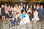 Michael 'Fox' O'Connor from Kevin Barry's Villas, seated centre, surrounded by his family, many having travelled from overseas, at his 60th birthday party held in The Brandon Hotel on Saturday night..   Copyright Kerry's Eye 2008