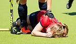 HUIZEN -Mauri Kleinschiphorst (Nijm.) bij de eerste play off wedstrijd voor promotie naar de hoofdklasse , Huizen-Nijmegen (3-2) COPYRIGHT KOEN SUYK