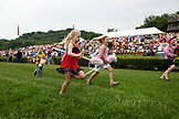 USA, Tennessee, Nashville, Iroquois Steeplechase, the annual stick horse race that happens before the first horse race of the day