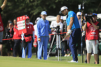 Xander Schauffele (USA) on the 10th green during round 1 at the WGC HSBC Champions, Sheshan Golf Club, Shanghai, China. 31/10/2019.<br /> Picture Fran Caffrey / Golffile.ie<br /> <br /> All photo usage must carry mandatory copyright credit (© Golffile | Fran Caffrey)
