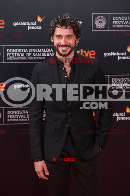 Paco Leon poses before 63rd Donostia Zinemaldia opening ceremony (San Sebastian International Film Festival) in San Sebastian, Spain. September 18, 2015. (ALTERPHOTOS/Victor Blanco) /NortePhoto.com