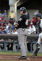 September 11, 2004:  Brad Eldred of the Altoona Curve, Double-A affiliate of the Pittsburgh Pirates, during a game at Jerry Uht Park in Erie, PA.  Photo by:  Mike Janes/Four Seam Images