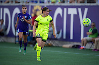 Orlando, Florida - Sunday, May 8, 2016: Seattle Reign FC defender Kendall Fletcher (13) chases a ball during a National Women's Soccer League match between Orlando Pride and Seattle Reign FC at Camping World Stadium.