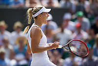 Angelique Kerber (1) of Germany celebrates a point against Shelby Rogers of United States in their Ladies' Singles Third Round Match today<br /> <br /> Photographer Ashley Western/CameraSport<br /> <br /> Wimbledon Lawn Tennis Championships - Day 6 - Saturday 8th July 2017 -  All England Lawn Tennis and Croquet Club - Wimbledon - London - England<br /> <br /> World Copyright &not;&copy; 2017 CameraSport. All rights reserved. 43 Linden Ave. Countesthorpe. Leicester. England. LE8 5PG - Tel: +44 (0) 116 277 4147 - admin@camerasport.com - www.camerasport.com