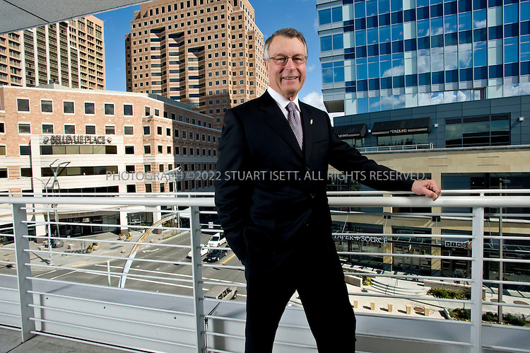 3/31/2008--Bellevue, WA, USA..Kemper Freeman of the Kemper Development Company poses at the company's offices overlooking their developments...Kemper Development Company is a fourth generation, family-owned real estate and development company best known for its development and management of Bellevue Square. This company has a continued focus on and interest in the growth and development of the Eastside. While many of its industry counterparts have split into specialized companies, Kemper Development Company and its affiliates have continued to focus on development, ownership, management and leasing of its properties in the Eastside market..©2008 Stuart Isett. All rights reserved.