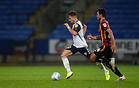 Bolton Wanderers' Dennis Politic breaks away from Bradford City's Danny Devine (right) <br /> <br /> Photographer Andrew Kearns/CameraSport<br /> <br /> EFL Leasing.com Trophy - Northern Section - Group F - Bolton Wanderers v Bradford City -  Tuesday 3rd September 2019 - University of Bolton Stadium - Bolton<br />  <br /> World Copyright © 2018 CameraSport. All rights reserved. 43 Linden Ave. Countesthorpe. Leicester. England. LE8 5PG - Tel: +44 (0) 116 277 4147 - admin@camerasport.com - www.camerasport.com