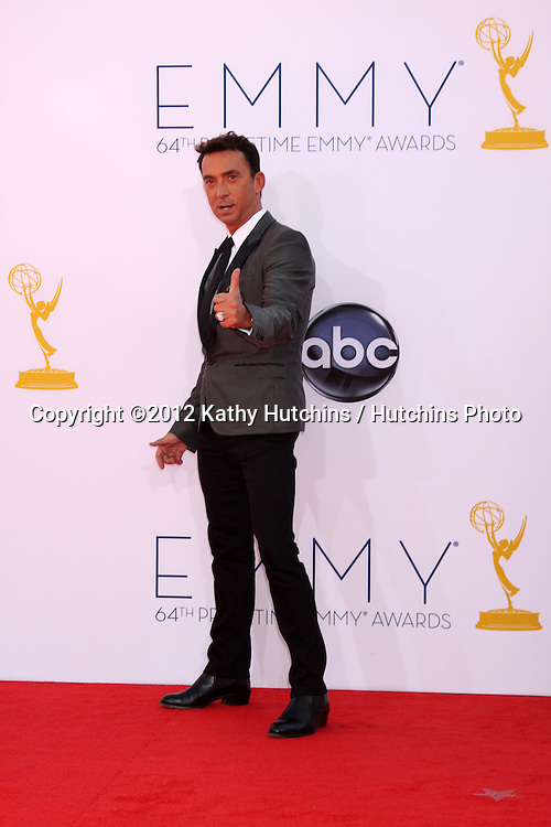 LOS ANGELES - SEP 23:  Bruno Tonioli arrives at the 2012 Emmy Awards at Nokia Theater on September 23, 2012 in Los Angeles, CA