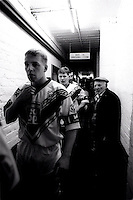 Pix:Michael Steele/SWpix...Barrow head towards the pitch. Rugby League. From the book 'When Push Comes to Shove'....COPYRIGHT PICTURE>>SIMON WILKINSON..Barrow head towards the pitch.